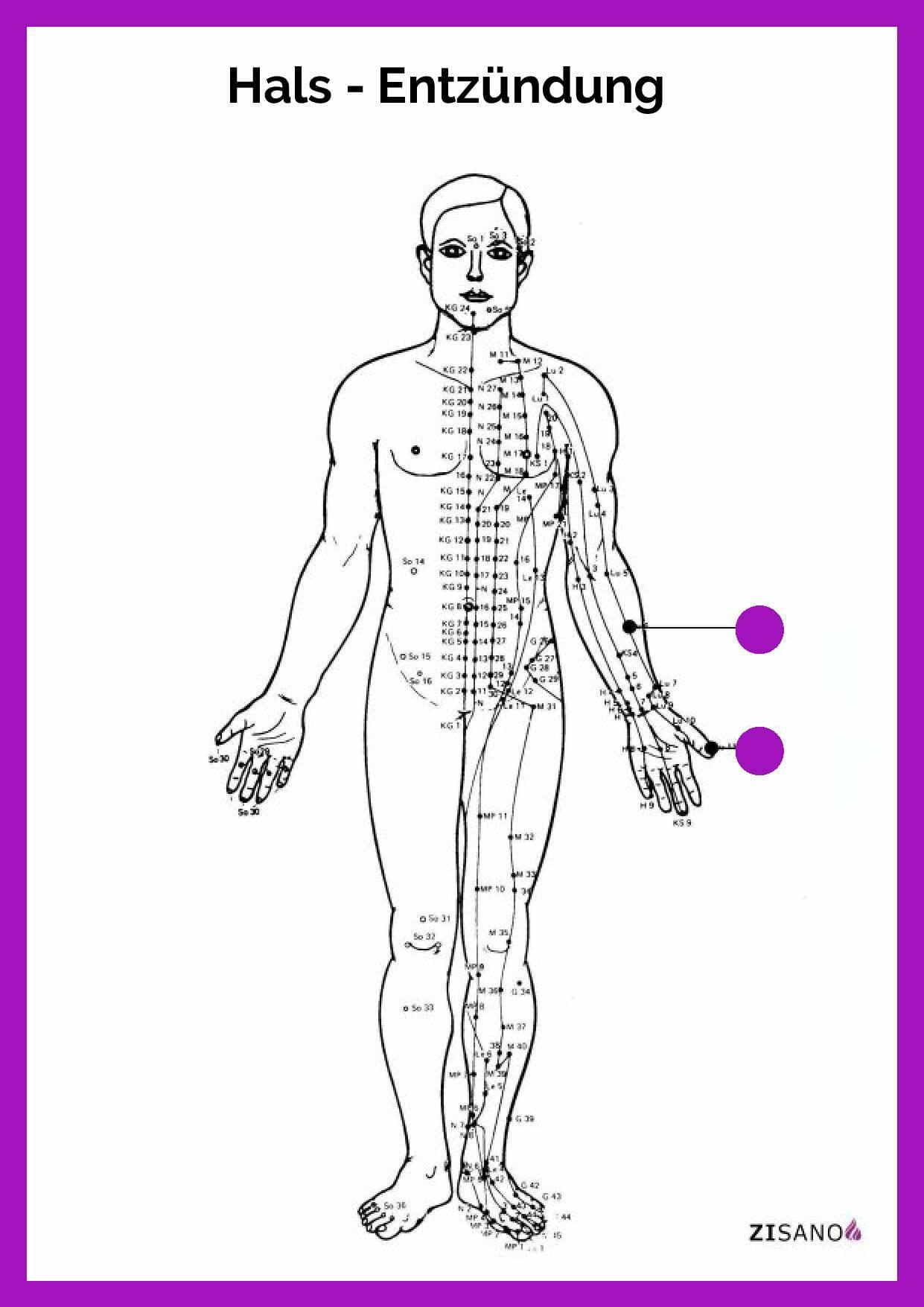 Meridiane - Hals - Entzündung- Schmerzlinderung