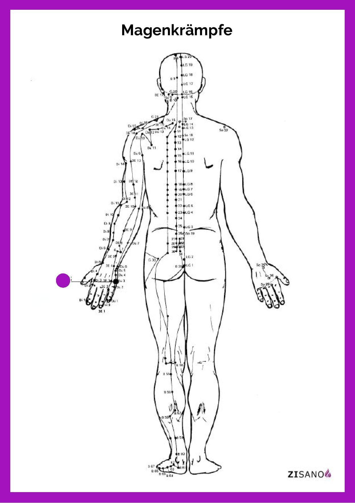 Meridiane - Magenkrämpfe - Beschwerden