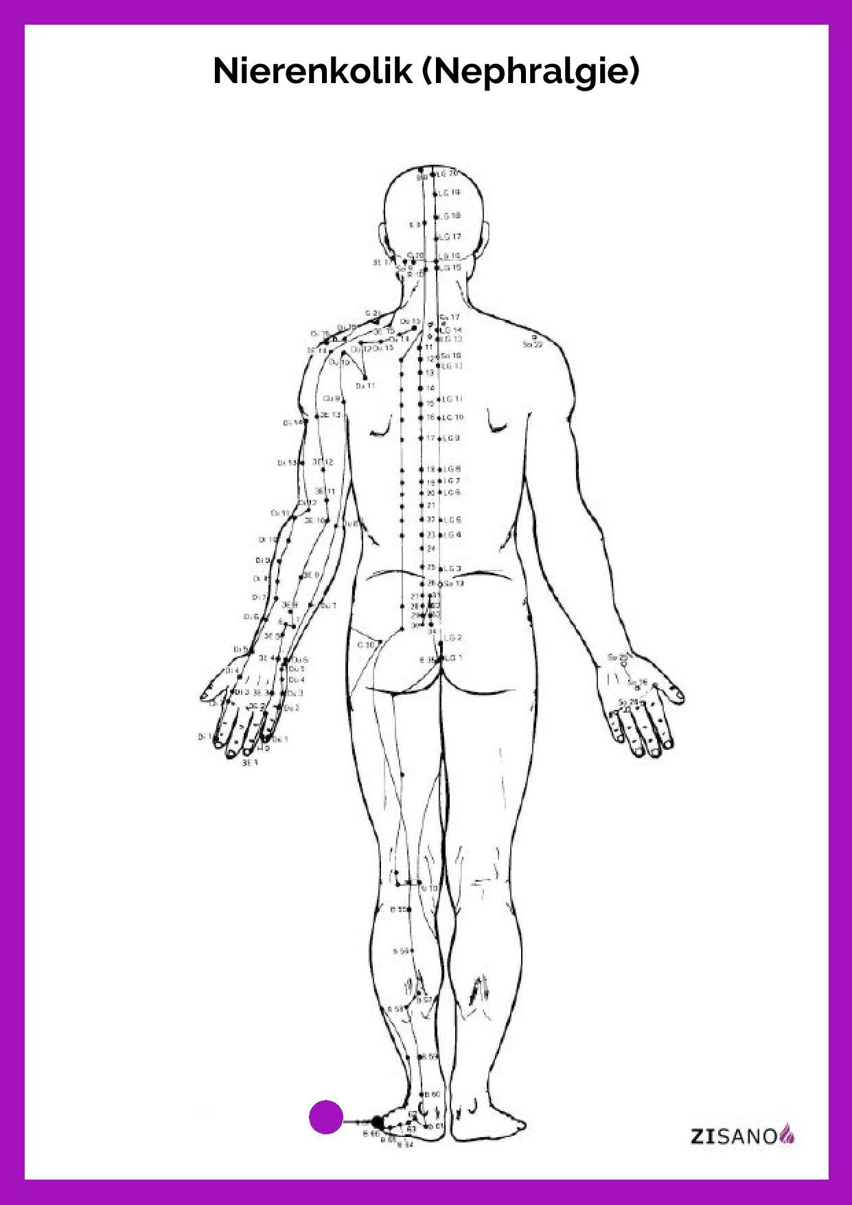 Meridiane - Nierenkolik - Nephralgie - Beschwerden
